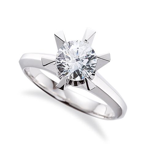 指輪 PT900 プラチナ 天然石 一粒リング 主石の直径約4.8mm ソリティア 三角爪 六本爪留め|900pt 貴金属 ジュエリー レディース メンズ