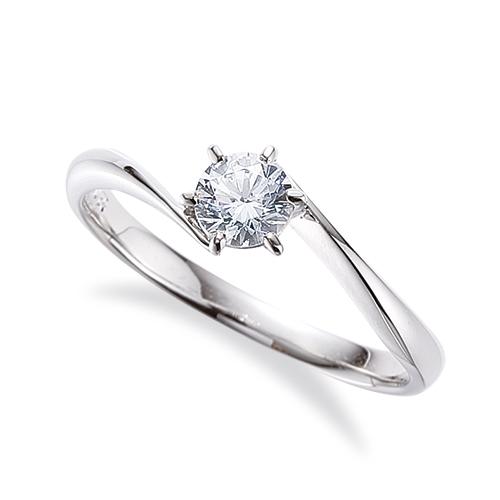 指輪 PT900 プラチナ 天然石 一粒リング 主石の直径約5.2mm ソリティア ウェーブ しぼり腕 六本爪留め|900pt 貴金属 ジュエリー レディース メンズ