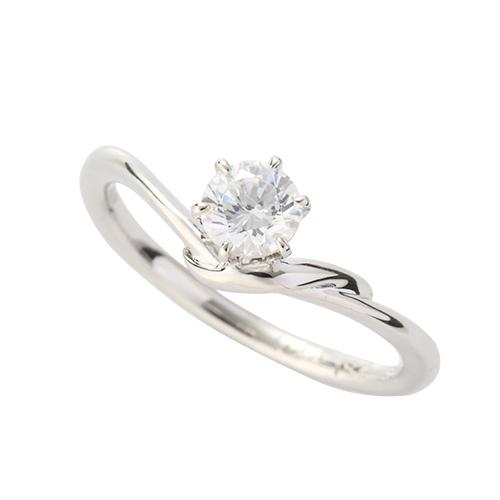 指輪 PT900 プラチナ 天然石 一粒リング 主石の直径約3.8mm ソリティア V字 六本爪留め|900pt 貴金属 ジュエリー レディース メンズ
