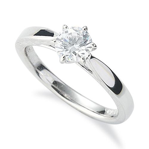指輪 PT900 プラチナ 天然石 側面透かし一粒リング 主石の直径約5.2mm ソリティア 平打ち 六本爪留め|900pt 貴金属 ジュエリー レディース メンズ