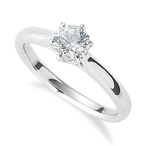 指輪 PT900 プラチナ 天然石 一粒リング 主石の直径約5.2mm ソリティア 六本爪留め|900pt 貴金属 ジュエリー レディース メンズ