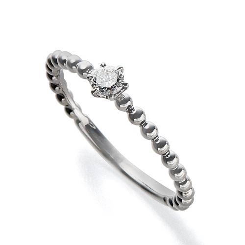 指輪 PT900 プラチナ 天然石 ボールが連なったデザインリング 主石の直径約3.0mm 六本爪留め|900pt 貴金属 ジュエリー レディース メンズ