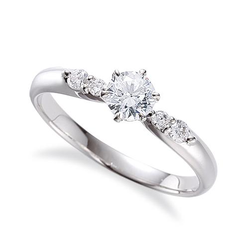 指輪 PT900 プラチナ 天然石 サイドストーンリング 主石の直径約3.8mm しぼり腕 六本爪留め|900pt 貴金属 ジュエリー レディース メンズ