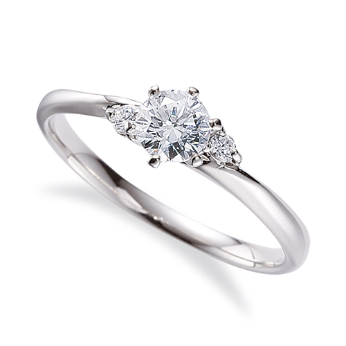 指輪 PT900 プラチナ 天然石 サイドストーンリング 主石の直径約5.2mm 六本爪留め 900pt 貴金属 ジュエリー レディース メンズ