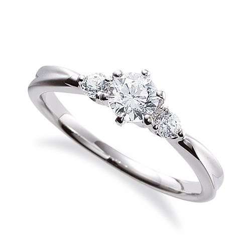 指輪 PT900 プラチナ 天然石 サイドストーンリング 主石の直径約4.4mm しぼり腕 六本爪留め|900pt 貴金属 ジュエリー レディース メンズ
