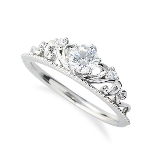 指輪 PT900 プラチナ 天然石 ティアラモチーフのデザインリング 主石の直径約4.4mm 六本爪留め|900pt 貴金属 ジュエリー レディース メンズ