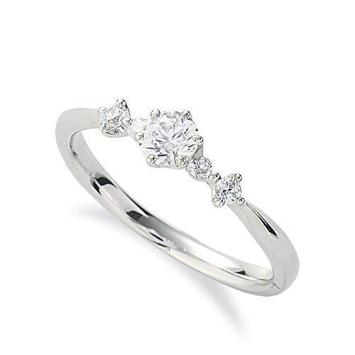 指輪 PT900 プラチナ 天然石 サイドストーンリング 主石の直径約3.8mm しぼり腕 六本爪留め 900pt 貴金属 ジュエリー レディース メンズ