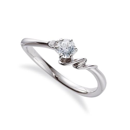 指輪 PT900 プラチナ 天然石 N イニシャルモチーフのサイドストーンリング 主石の直径約3.8mm ウェーブ 六本爪留め|900pt 貴金属 ジュエリー レディース メンズ
