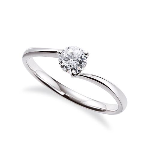 指輪 PT900 プラチナ 天然石 一粒リング 主石の直径約4.4mm ソリティア ウェーブ 三本爪留め|900pt 貴金属 ジュエリー レディース メンズ