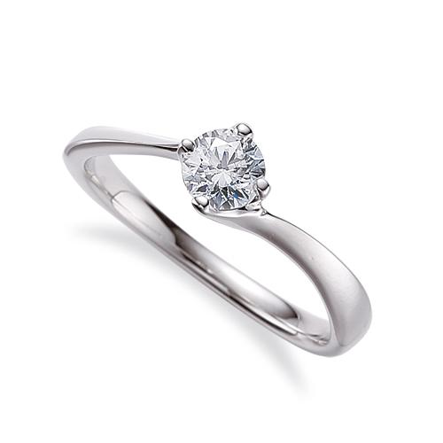 指輪 PT900 プラチナ 天然石 一粒リング 主石の直径約4.4mm ソリティア ウェーブ 四本爪留め|900pt 貴金属 ジュエリー レディース メンズ