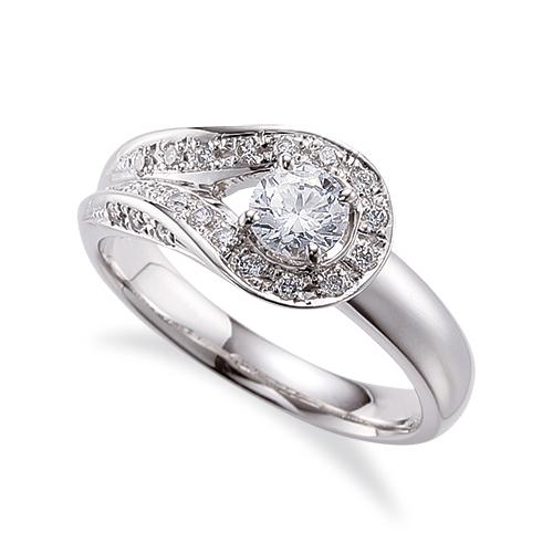 指輪 PT900 プラチナ 天然石 三面メレの豪華なサイドストーンリング 主石の直径約4.4mm 割り腕 四本爪留め|900pt 貴金属 ジュエリー レディース メンズ