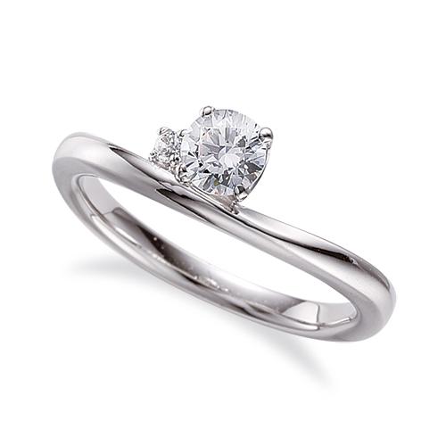 指輪 PT900 プラチナ 天然石 サイドストーンリング 主石の直径約5.2mm V字 四本爪留め|900pt 貴金属 ジュエリー レディース メンズ