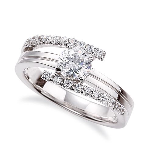 指輪 PT900 プラチナ 天然石 メレがラインになったサイドストーンリング 主石の直径約5.2mm 割り腕 四本爪留め|900pt 貴金属 ジュエリー レディース メンズ