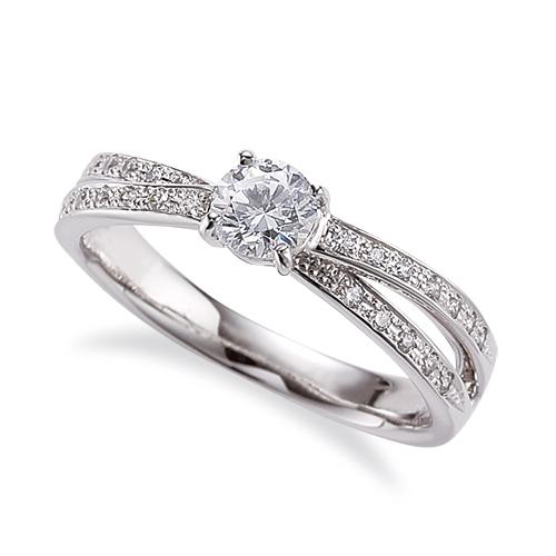 指輪 PT900 プラチナ 天然石 クロスデザインのサイド一文字リング 主石の直径約4.4mm 割り腕 四本爪留め 900pt 貴金属 ジュエリー レディース メンズ