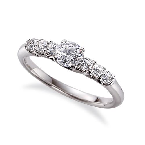 指輪 PT900 プラチナ 天然石 サイドストーンリング 主石の直径約4.4mm 四本爪留め|900pt 貴金属 ジュエリー レディース メンズ