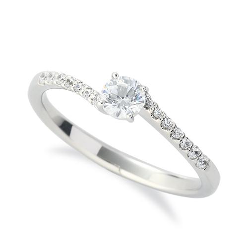 指輪 PT900 プラチナ 天然石 サイド一文字 主石の直径約3.8mm ウェーブ 四本爪留め|900pt 貴金属 ジュエリー レディース メンズ
