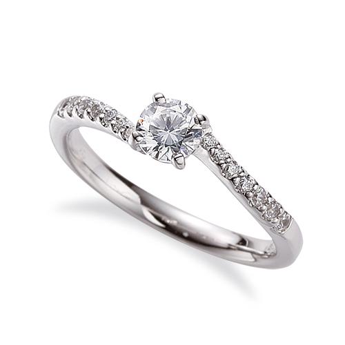 指輪 PT900 プラチナ 天然石 サイド一文字 主石の直径約4.4mm ウェーブ 四本爪留め|900pt 貴金属 ジュエリー レディース メンズ