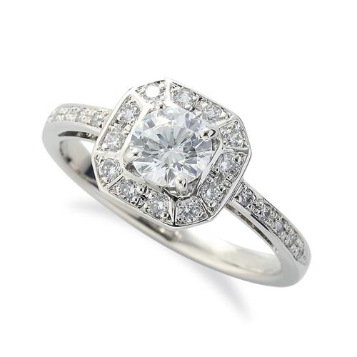 指輪 PT900 プラチナ 天然石 サイド一文字の取り巻きリング 主石の直径約5.2mm 四本爪留め|900pt 貴金属 ジュエリー レディース メンズ