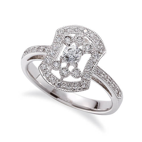 指輪 PT900 プラチナ 天然石 メレ周りミル打ちの取り巻きリング 主石の直径約3.4mm 四本爪留め 900pt 貴金属 ジュエリー レディース メンズ