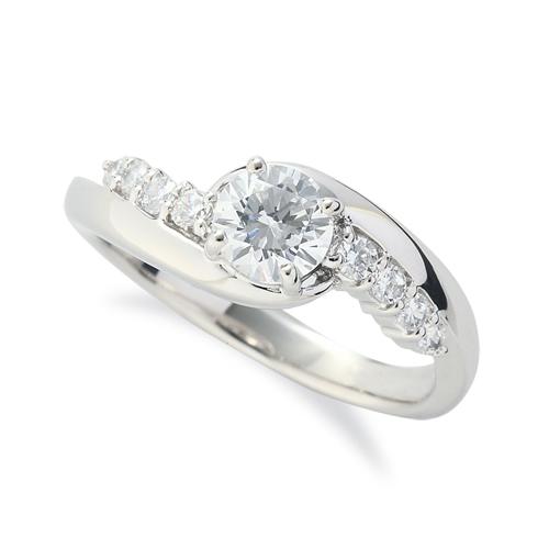 指輪 PT900 プラチナ 天然石 サイドストーンリング 主石の直径約5.2mm 抱き合わせ腕 四本爪留め|900pt 貴金属 ジュエリー レディース メンズ