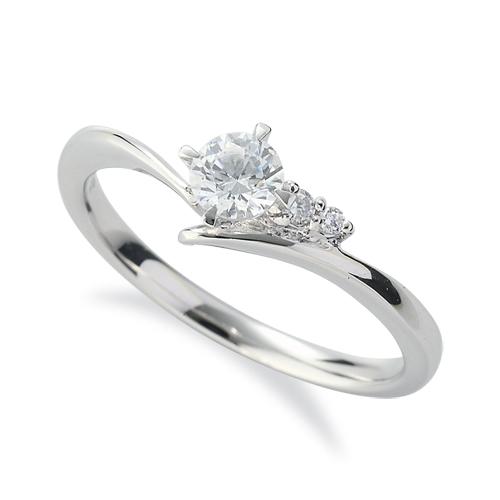 指輪 PT900 プラチナ 天然石 サイドストーンリング 主石の直径約3.8mm V字 四本爪留め 900pt 貴金属 ジュエリー レディース メンズ