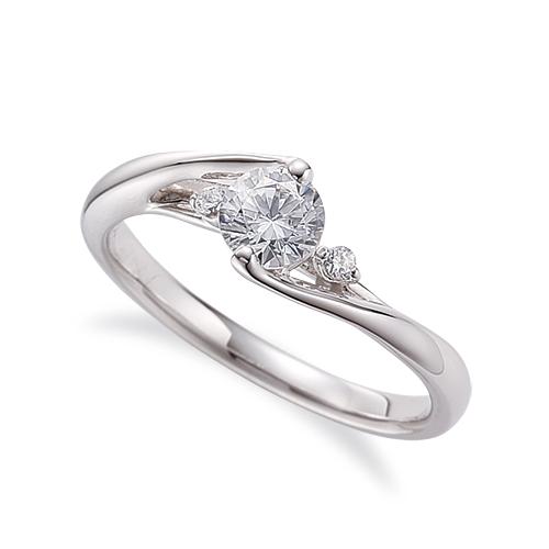 指輪 PT900 プラチナ 天然石 サイドストーンリング 主石の直径約4.4mm ウェーブ 割り腕|900pt 貴金属 ジュエリー レディース メンズ