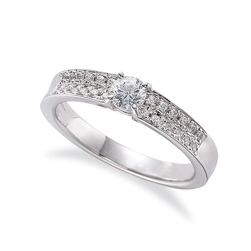 指輪 PT900 プラチナ 天然石 サイドパヴェリング 主石の直径約3.8mm 四本爪留め|900pt 貴金属 ジュエリー レディース メンズ