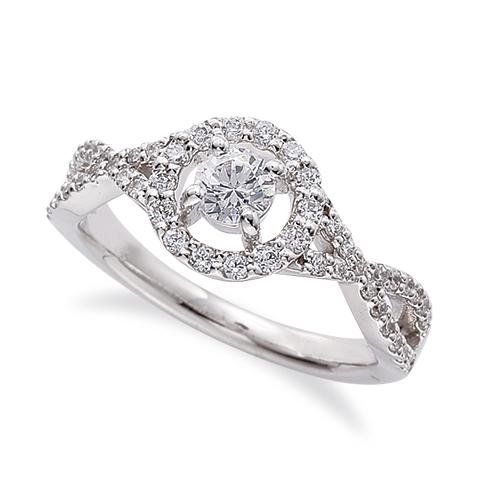 指輪 PT900 プラチナ 天然石 メレがラインになった取り巻きリング 主石の直径約4.1mm 割り腕 四本爪留め|900pt 貴金属 ジュエリー レディース メンズ