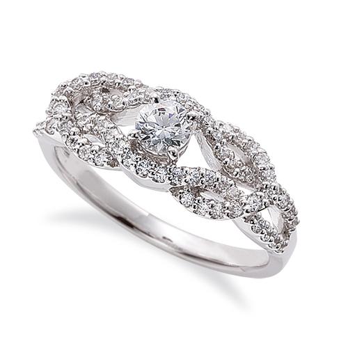 指輪 PT900 プラチナ 天然石 メレのラインが豪華な取り巻きリング 主石の直径約3.8mm 割り腕 四本爪留め|900pt 貴金属 ジュエリー レディース メンズ