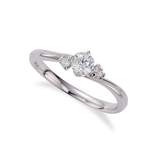 指輪 PT900 プラチナ 天然石 ミル打ちラインのサイドストーンリング 主石の直径約3.8mm ウェーブ 四本爪留め|900pt 貴金属 ジュエリー レディース メンズ