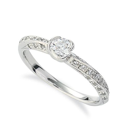 指輪 PT900 プラチナ 天然石 メレがラインになったサイドストーンリング 主石の直径約3.8mm|900pt 貴金属 ジュエリー レディース メンズ