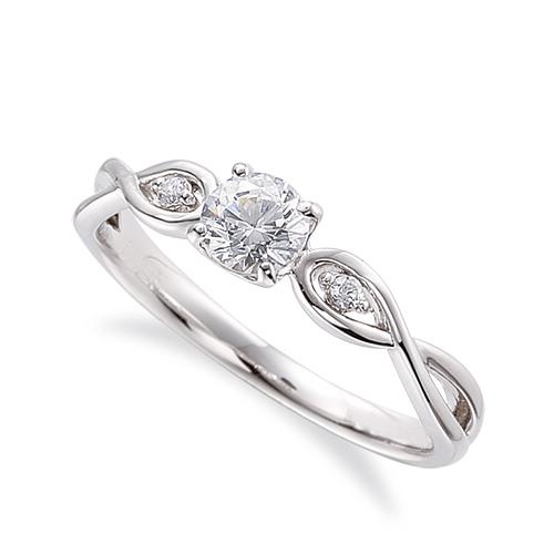 指輪 PT900 プラチナ 天然石 サイドストーンリング 主石の直径約4.4mm 割り腕 四本爪留め|900pt 貴金属 ジュエリー レディース メンズ