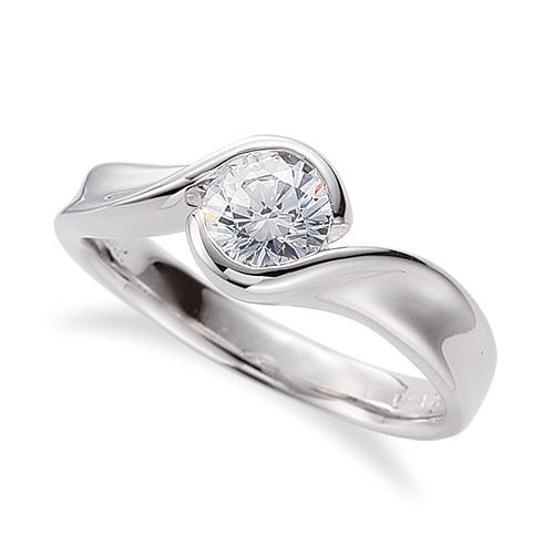 指輪 PT900 プラチナ 天然石 一粒リング 主石の直径約3.0mm ソリティア 抱き合わせ腕 レール留め|900pt 貴金属 ジュエリー レディース メンズ