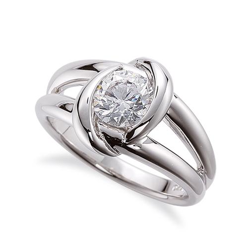 指輪 PT900 プラチナ 天然石 一粒リング 主石の直径約4.4mm ソリティア 割り腕 レール留め|900pt 貴金属 ジュエリー レディース メンズ