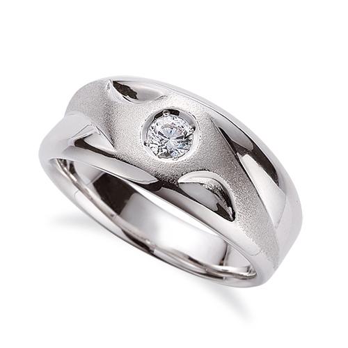 指輪 PT900 プラチナ 天然石 梨地加工と凹凸デザインの一粒リング 主石の直径約3.8mm ソリティア|900pt 貴金属 ジュエリー レディース メンズ