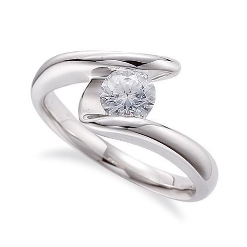 指輪 PT900 プラチナ 天然石 一粒リング 主石の直径約3.8mm ソリティア ウェーブ レール留め|900pt 貴金属 ジュエリー レディース メンズ