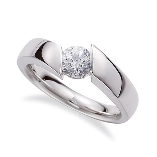 指輪 PT900 プラチナ 天然石 一粒リング 主石の直径約3.8mm ソリティア 平打ち|900pt 貴金属 ジュエリー レディース メンズ