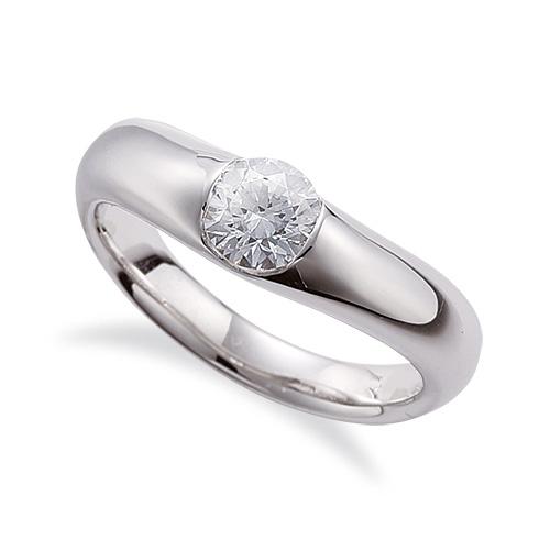 指輪 PT900 プラチナ 天然石 一粒リング 主石の直径約4.4mm ソリティア V字 レール留め|900pt 貴金属 ジュエリー レディース メンズ