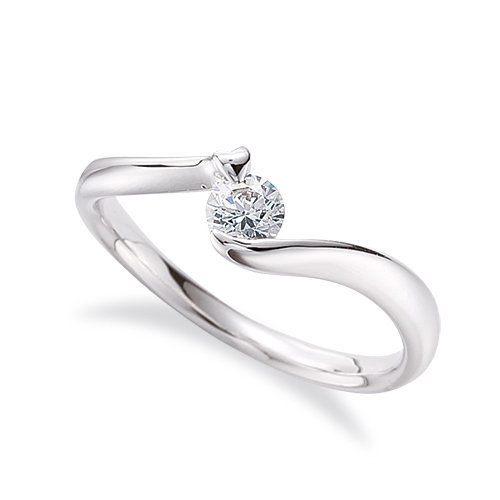 指輪 PT900 プラチナ 天然石 一粒リング 主石の直径約3.8mm ソリティア ウェーブ|900pt 貴金属 ジュエリー レディース メンズ