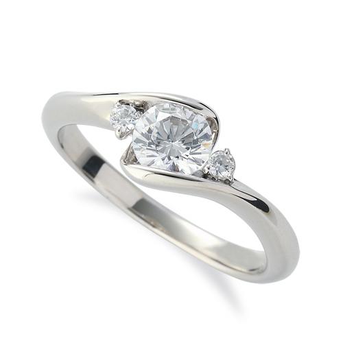 指輪 PT900 プラチナ 天然石 サイドストーンリング 主石の直径約5.2mm 抱き合わせ腕 レール留め 900pt 貴金属 ジュエリー レディース メンズ