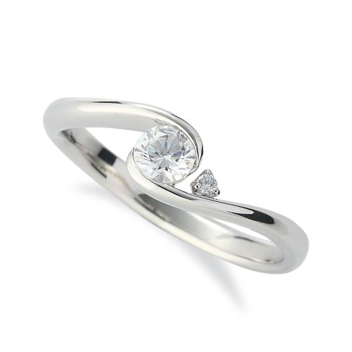 指輪 PT900 プラチナ 天然石 サイドストーンリング 主石の直径約3.8mm 抱き合わせ腕 レール留め|900pt 貴金属 ジュエリー レディース メンズ
