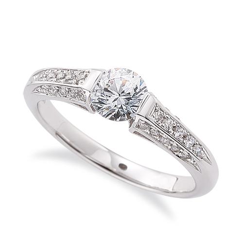 指輪 PT900 プラチナ 天然石 サイド一文字リング 主石の直径約4.4mm レール留め|900pt 貴金属 ジュエリー レディース メンズ