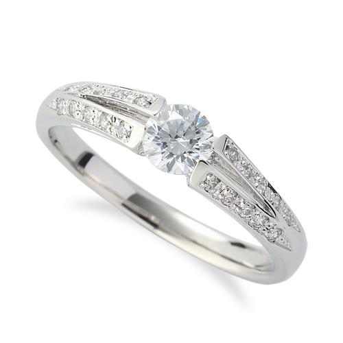 指輪 PT900 プラチナ 天然石 メレがラインになったサイドストーンリング 主石の直径約4.4mm 割り腕|900pt 貴金属 ジュエリー レディース メンズ