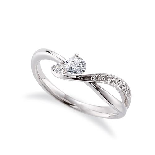 指輪 PT900 プラチナ 天然石 サイドストーンリング 主石の直径約3.8mm ウェーブ 割り腕 900pt 貴金属 ジュエリー レディース メンズ