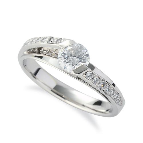 指輪 PT900 プラチナ 天然石 メレがラインになったサイドストーンリング 主石の直径約5.2mm|900pt 貴金属 ジュエリー レディース メンズ