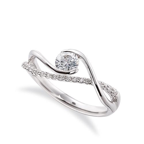 指輪 PT900 プラチナ 天然石 メレがラインになったサイドストーンリング 主石の直径約4.4mm 抱き合わせ腕 割り腕|900pt 貴金属 ジュエリー レディース メンズ