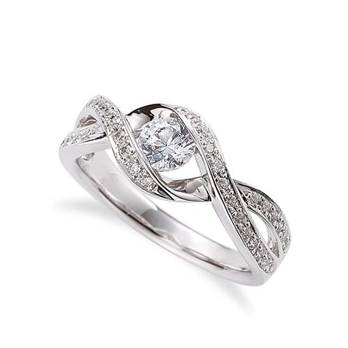 指輪 PT900 プラチナ 天然石 メレがラインになったサイドストーンリング 主石の直径約4.4mm ウェーブ 割り腕 900pt 貴金属 ジュエリー レディース メンズ