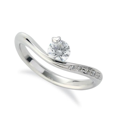 指輪 PT900 プラチナ 天然石 メレがラインになったサイドストーンリング 主石の直径約4.4mm V字|900pt 貴金属 ジュエリー レディース メンズ
