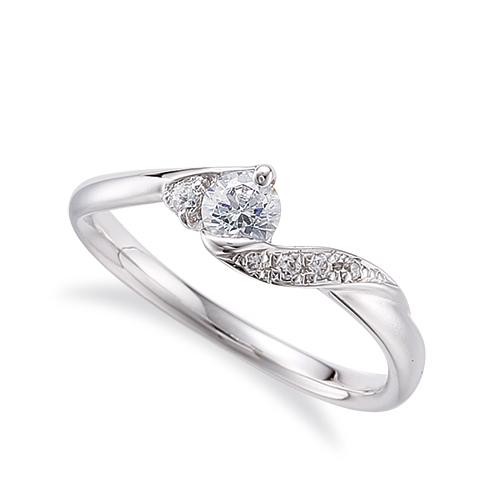 指輪 PT900 プラチナ 天然石 サイドストーンリング 主石の直径約3.8mm ウェーブ|900pt 貴金属 ジュエリー レディース メンズ