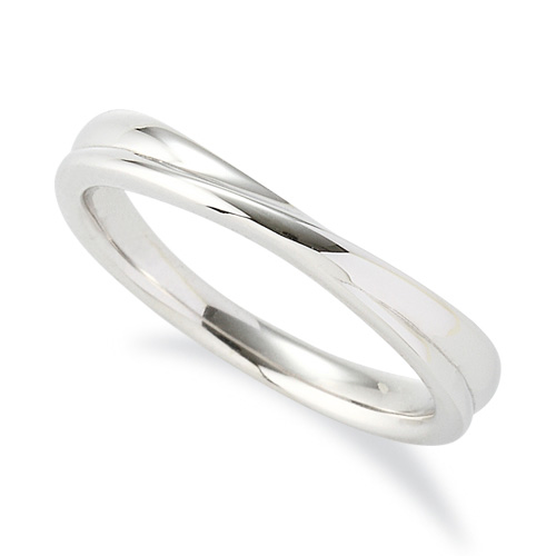指輪 PT900 プラチナ シンプルモダンなウェーブリング 幅3.4mm 900pt 貴金属 ジュエリー レディース メンズ